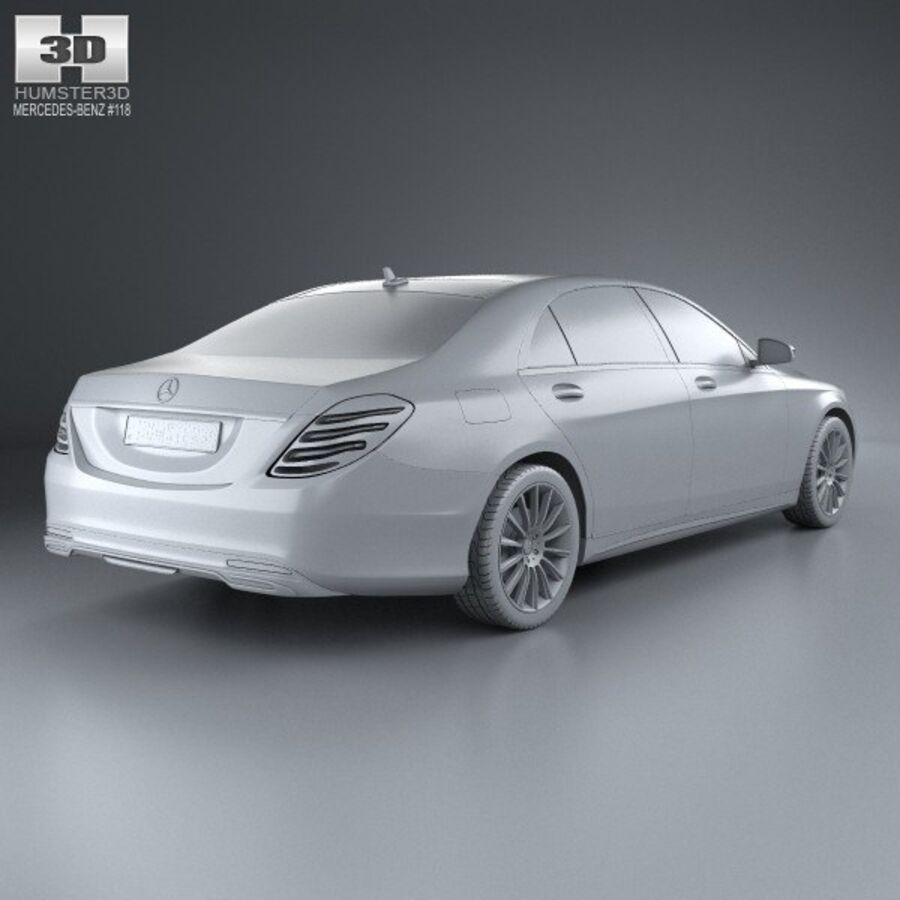Mercedes-Benz S-Class (W222) with HQ interior 2014 royalty-free 3d model - Preview no. 12