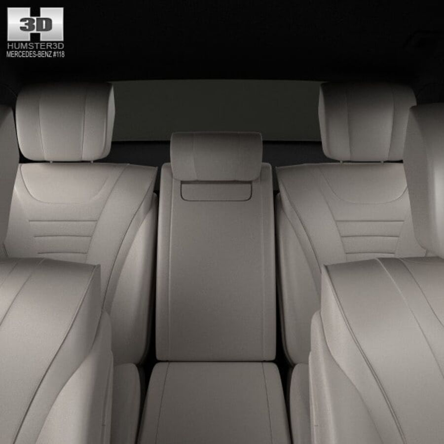 Mercedes-Benz S-Class (W222) with HQ interior 2014 royalty-free 3d model - Preview no. 16