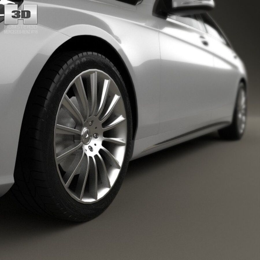 Mercedes-Benz S-Class (W222) with HQ interior 2014 royalty-free 3d model - Preview no. 8