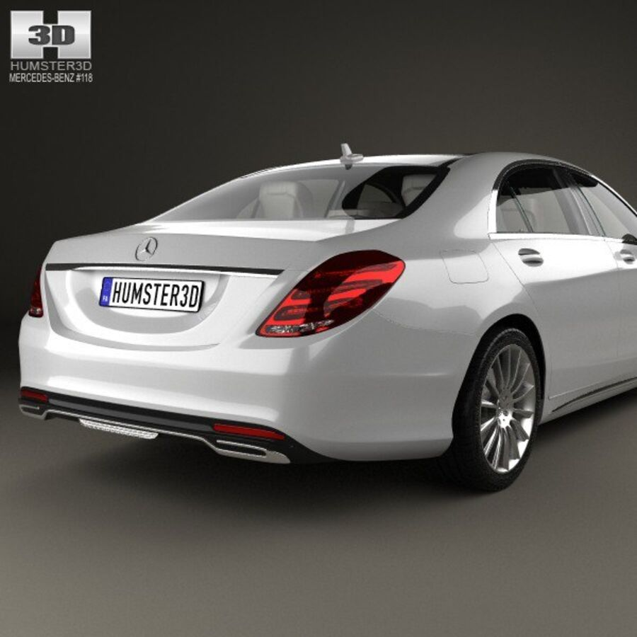 Mercedes-Benz S-Class (W222) with HQ interior 2014 royalty-free 3d model - Preview no. 7