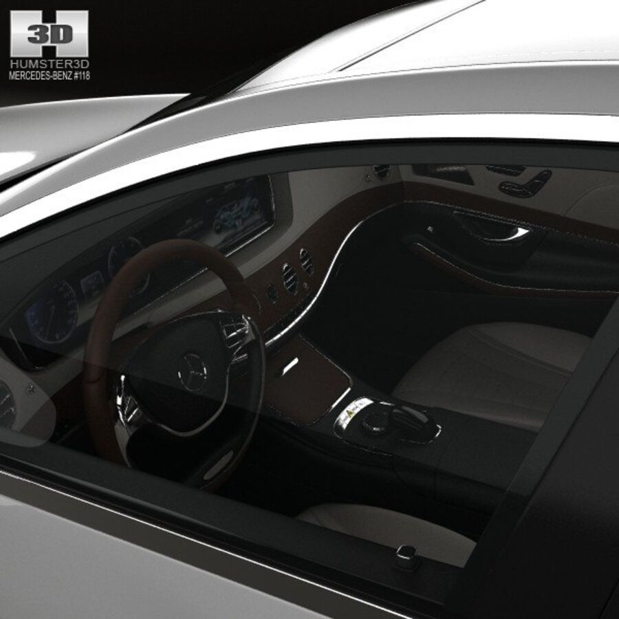 Mercedes-Benz S-Class (W222) with HQ interior 2014 royalty-free 3d model - Preview no. 15