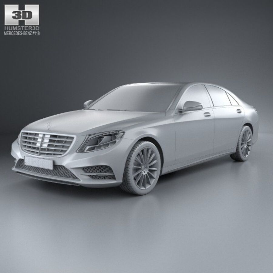 Mercedes-Benz S-Class (W222) with HQ interior 2014 royalty-free 3d model - Preview no. 11