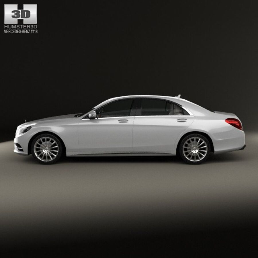 Mercedes-Benz S-Class (W222) with HQ interior 2014 royalty-free 3d model - Preview no. 5