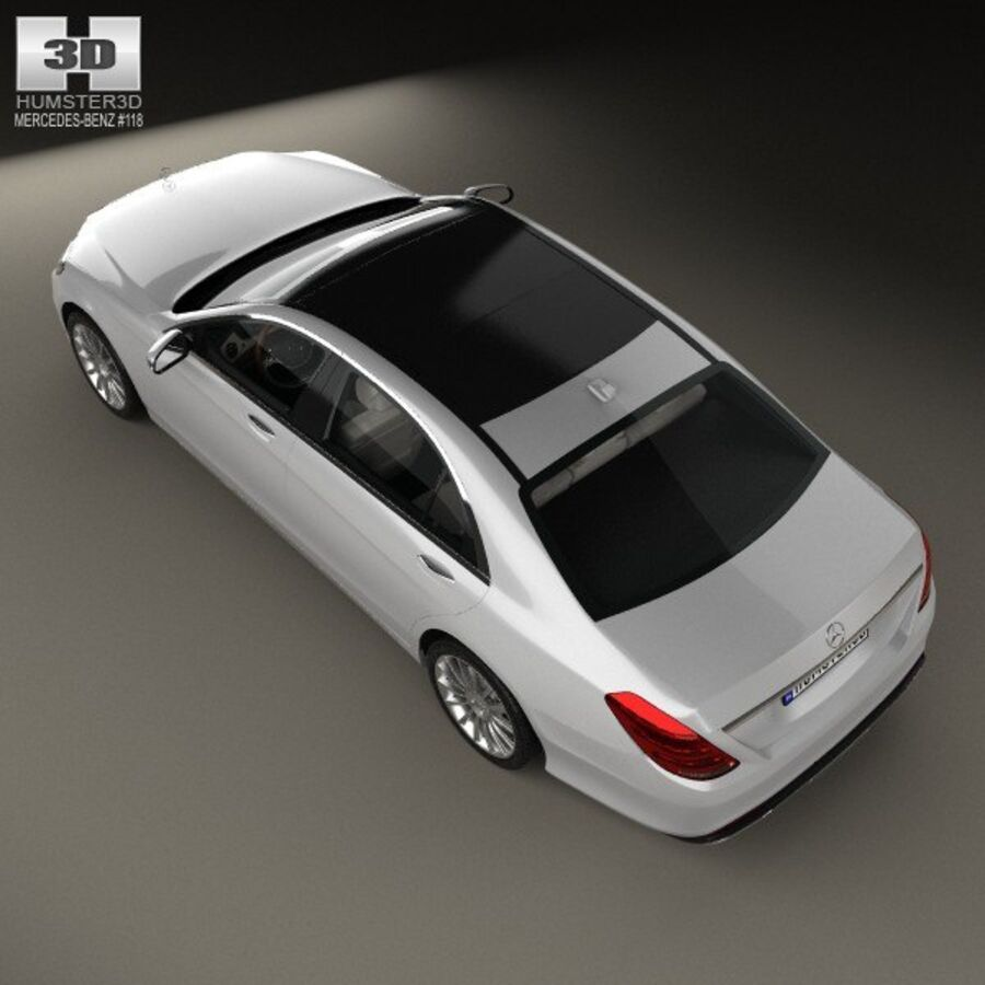 Mercedes-Benz S-Class (W222) with HQ interior 2014 royalty-free 3d model - Preview no. 9