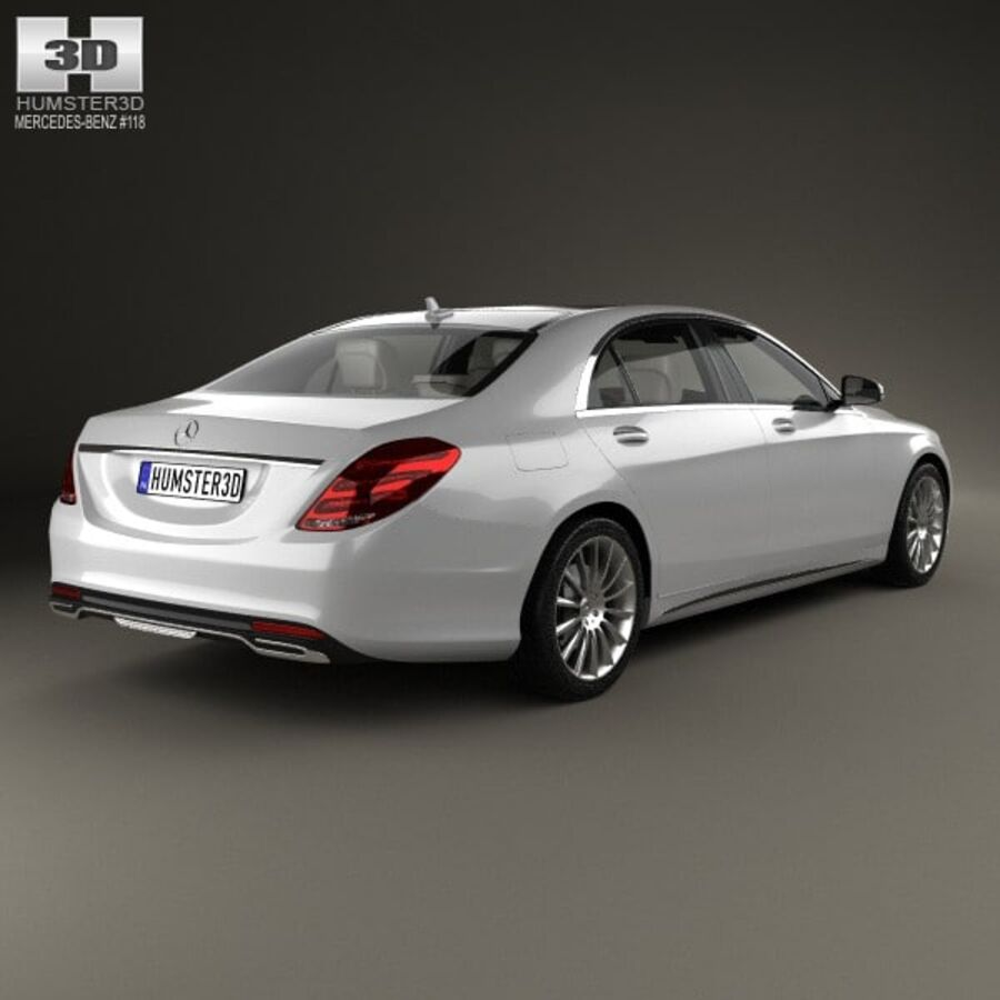 Mercedes-Benz S-Class (W222) with HQ interior 2014 royalty-free 3d model - Preview no. 2