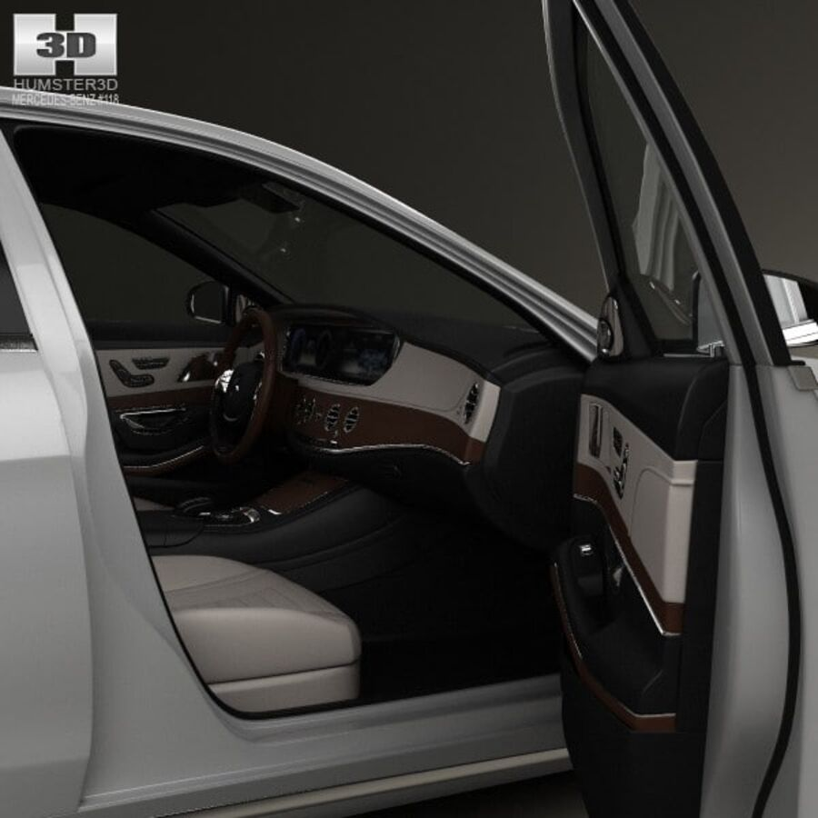 Mercedes-Benz S-Class (W222) with HQ interior 2014 royalty-free 3d model - Preview no. 13