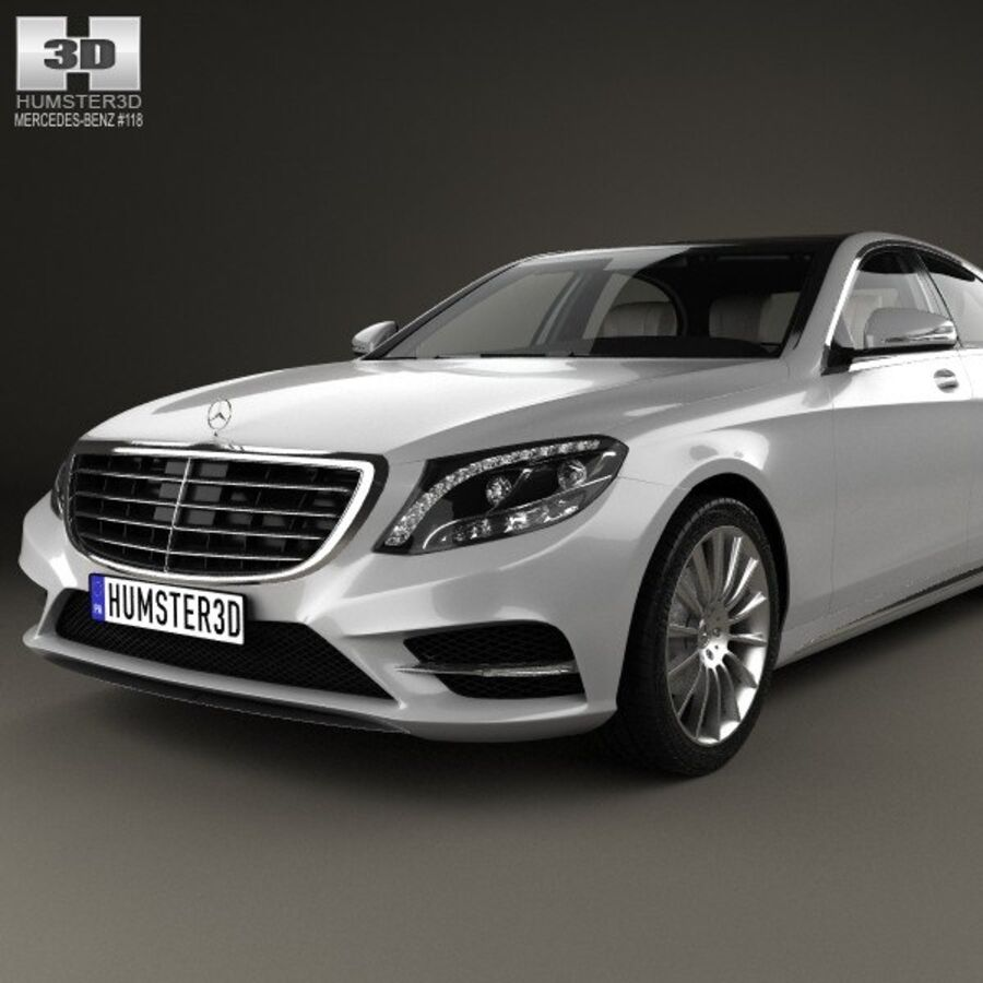 Mercedes-Benz S-Class (W222) with HQ interior 2014 royalty-free 3d model - Preview no. 6