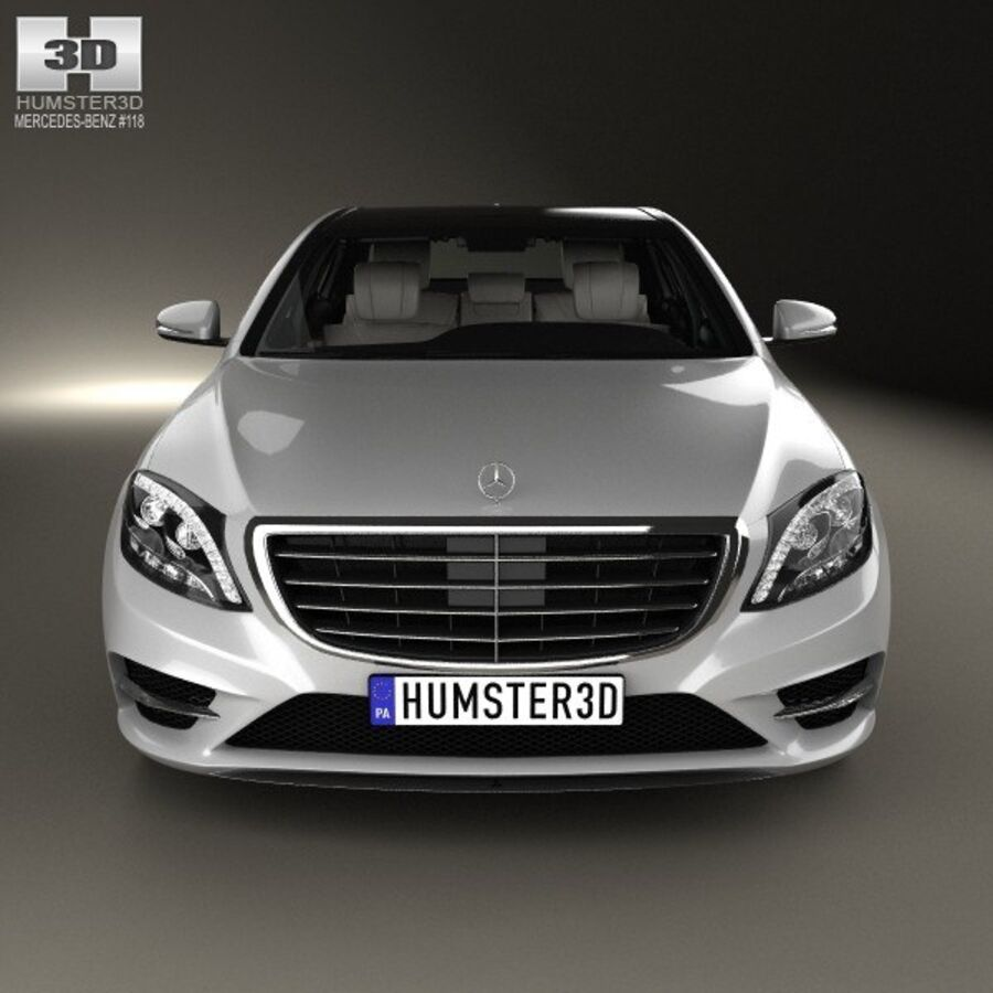 Mercedes-Benz S-Class (W222) with HQ interior 2014 royalty-free 3d model - Preview no. 10