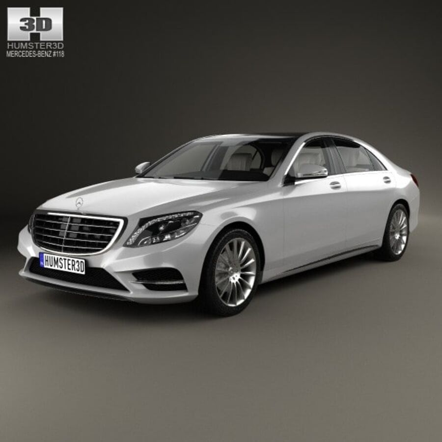 Mercedes-Benz S-Class (W222) with HQ interior 2014 royalty-free 3d model - Preview no. 1