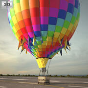 Sıcak hava balonu 3d model