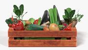 Vegetais em Caixa 3d model