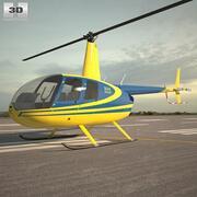 Робинсон R44 Ворон 3d model