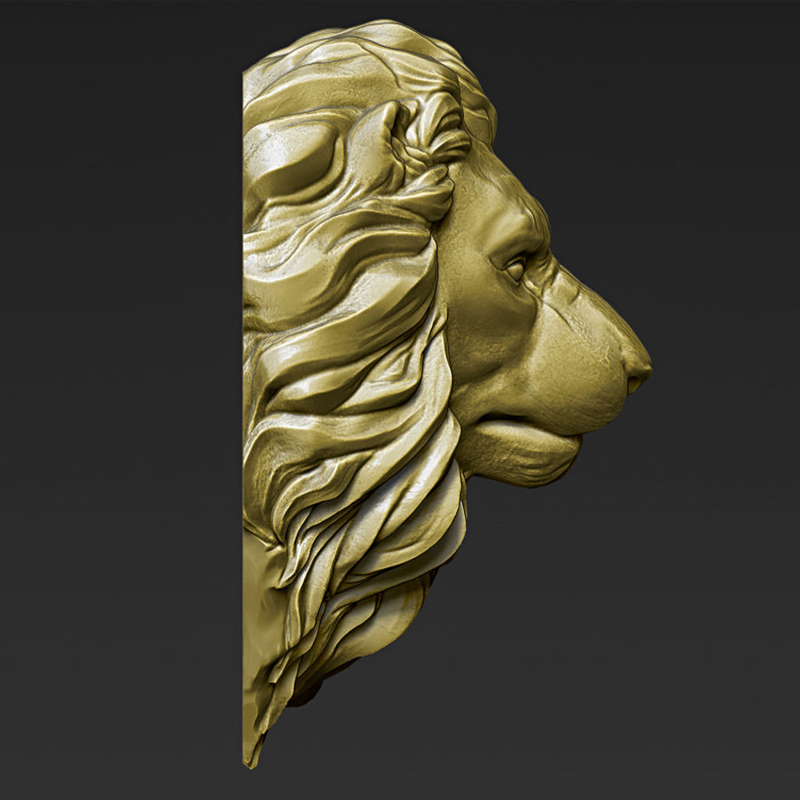 Lion Head Pendant 3d print model royalty-free 3d model - Preview no. 13