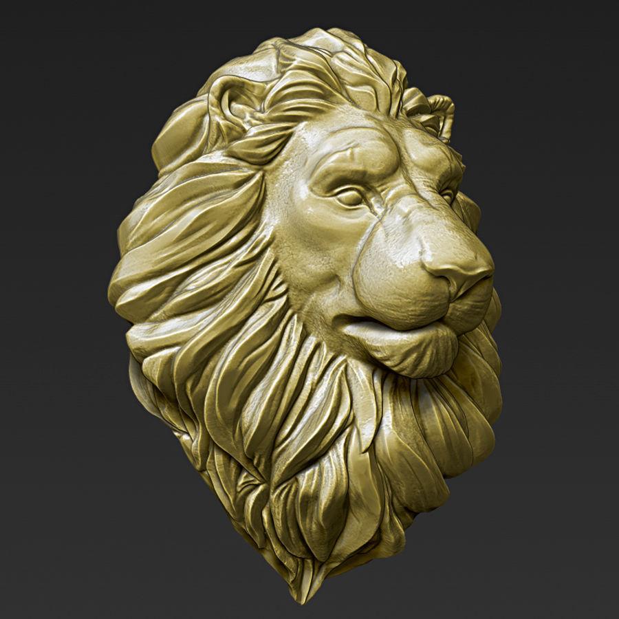 Lion Head Pendant 3d print model royalty-free 3d model - Preview no. 11