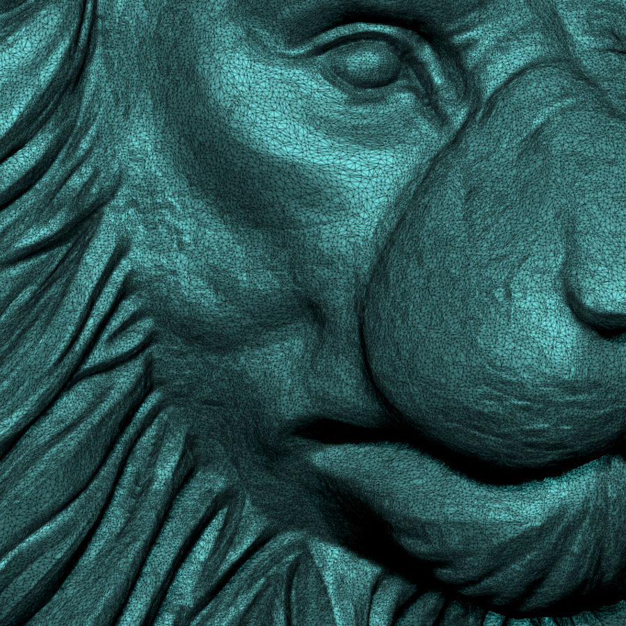 Lion Head Pendant 3d print model royalty-free 3d model - Preview no. 4