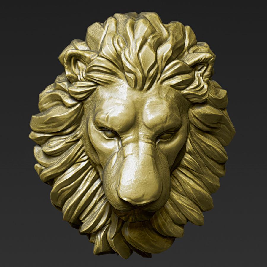 Lion Head Pendant 3d print model royalty-free 3d model - Preview no. 10
