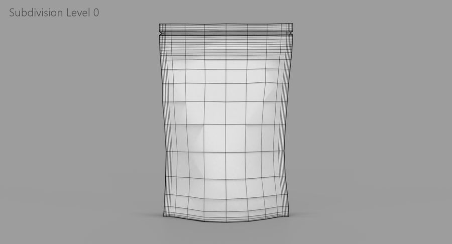 Stand Up Pouch royalty-free 3d model - Preview no. 9