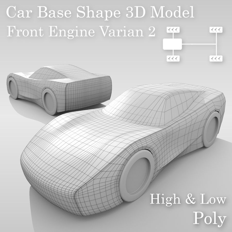 Araba Tabanı FR Düzeni Varyant 2 royalty-free 3d model - Preview no. 1