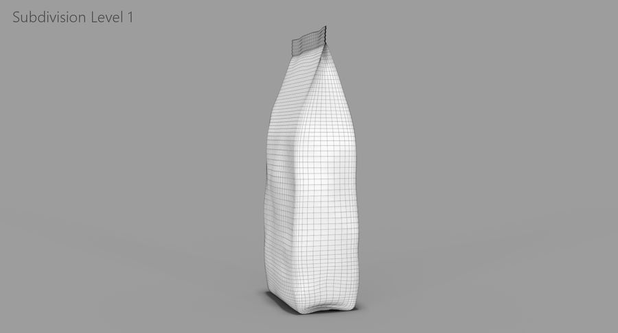 Saco de papel royalty-free 3d model - Preview no. 12