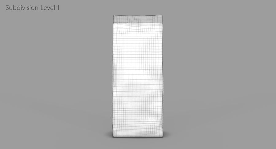 Saco de papel royalty-free 3d model - Preview no. 10