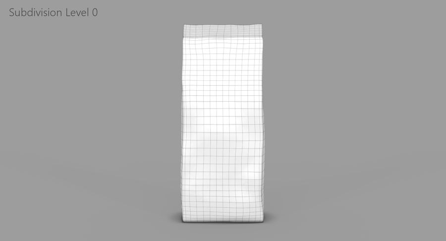 Saco de papel royalty-free 3d model - Preview no. 9