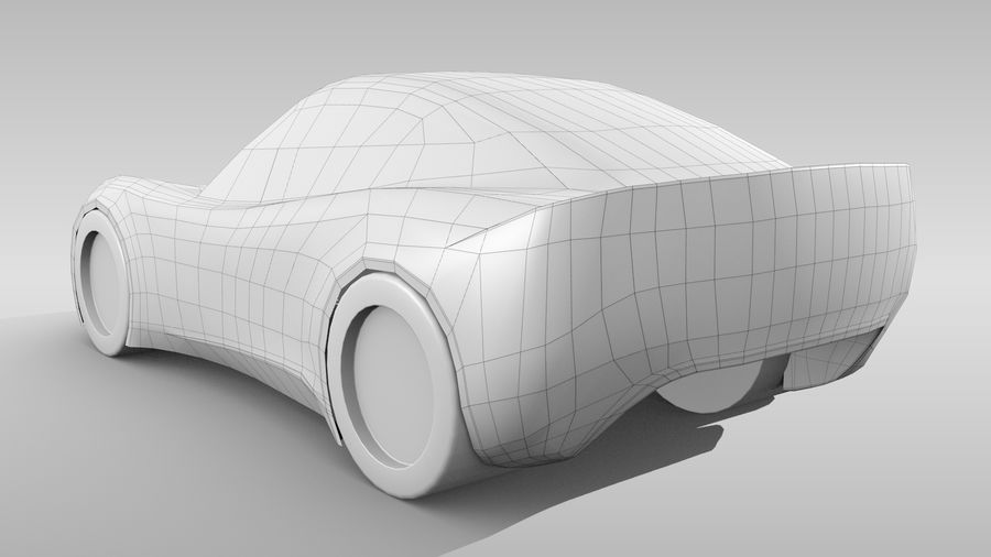 Car Base RR Layout Variant 1 royalty-free 3d model - Preview no. 6