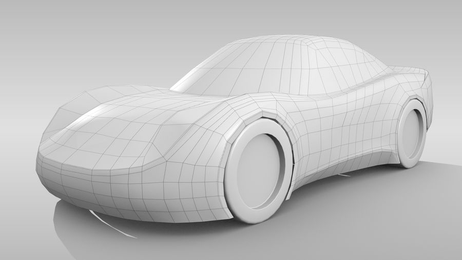 Car Base RR Layout Variant 1 royalty-free 3d model - Preview no. 3