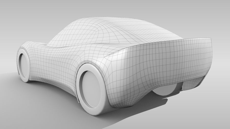 Car Base RR Layout Variant 1 royalty-free 3d model - Preview no. 5