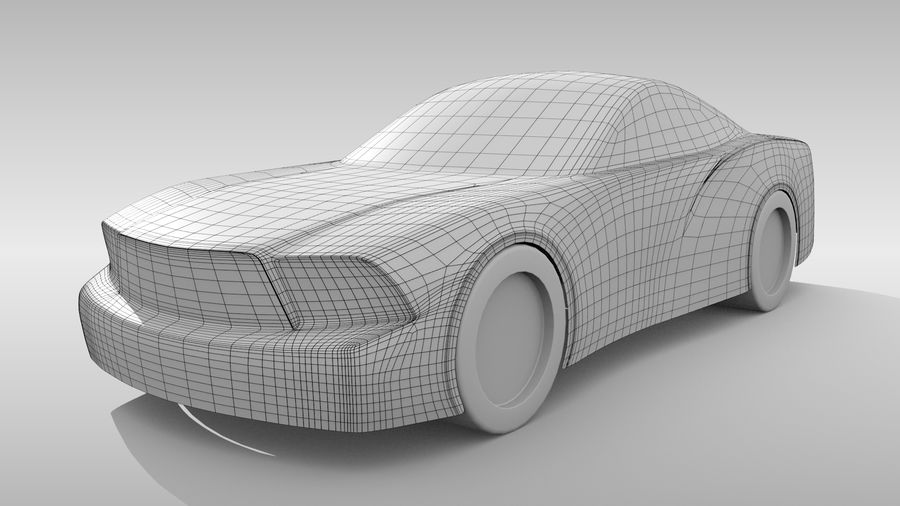 Car Base FR Layout Variant 4 royalty-free 3d model - Preview no. 2
