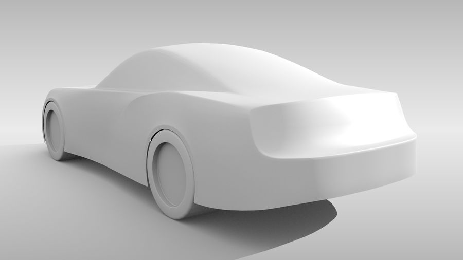 Car Base FR Layout Variant 4 royalty-free 3d model - Preview no. 7