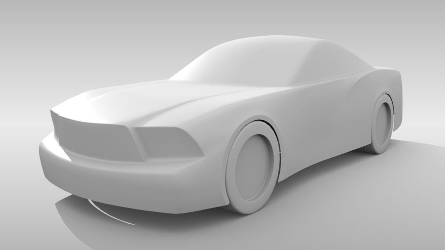 Car Base FR Layout Variant 4 royalty-free 3d model - Preview no. 4