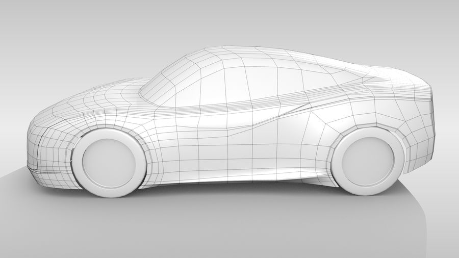 Car Base MR Layout Variant 3 royalty-free 3d model - Preview no. 9
