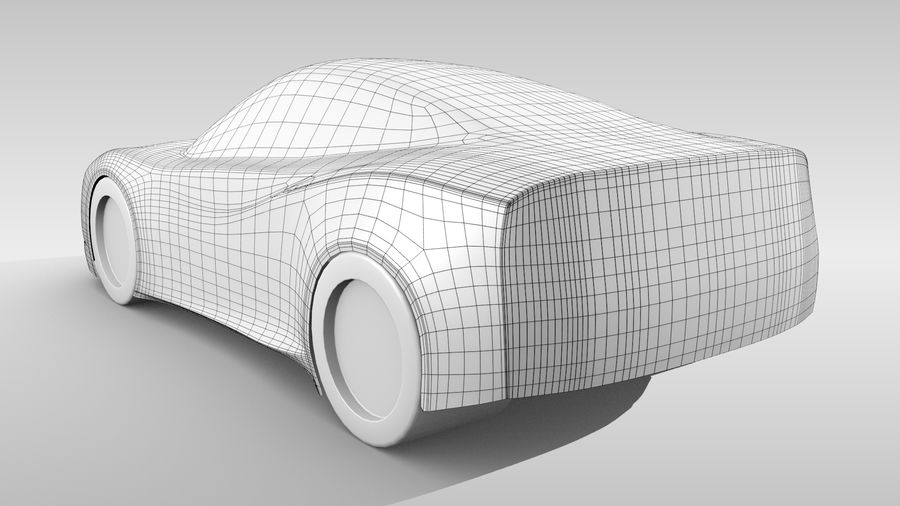 Car Base MR Layout Variant 3 royalty-free 3d model - Preview no. 5