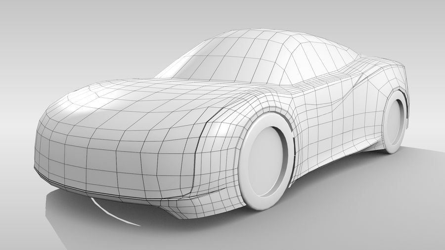 Car Base MR Layout Variant 3 royalty-free 3d model - Preview no. 3