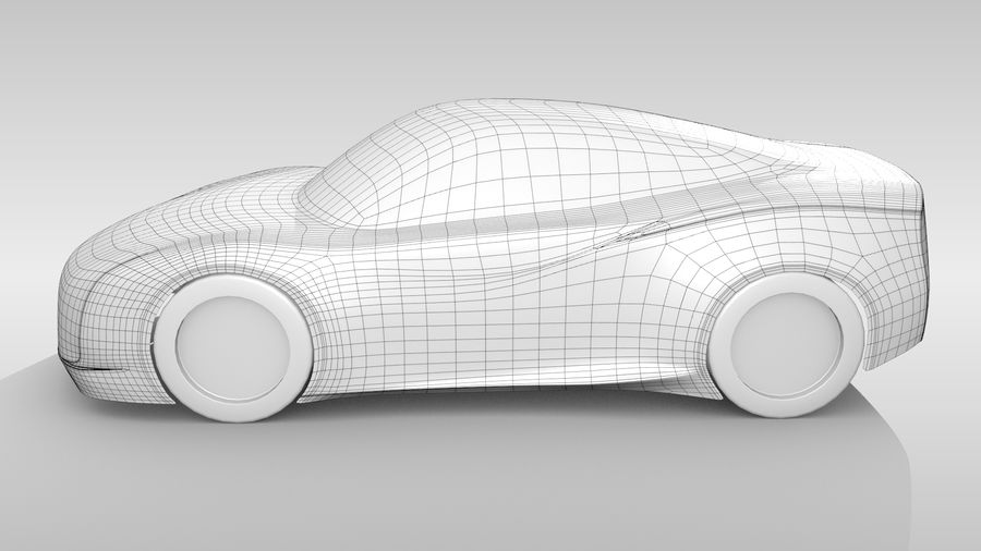 Car Base MR Layout Variant 3 royalty-free 3d model - Preview no. 8