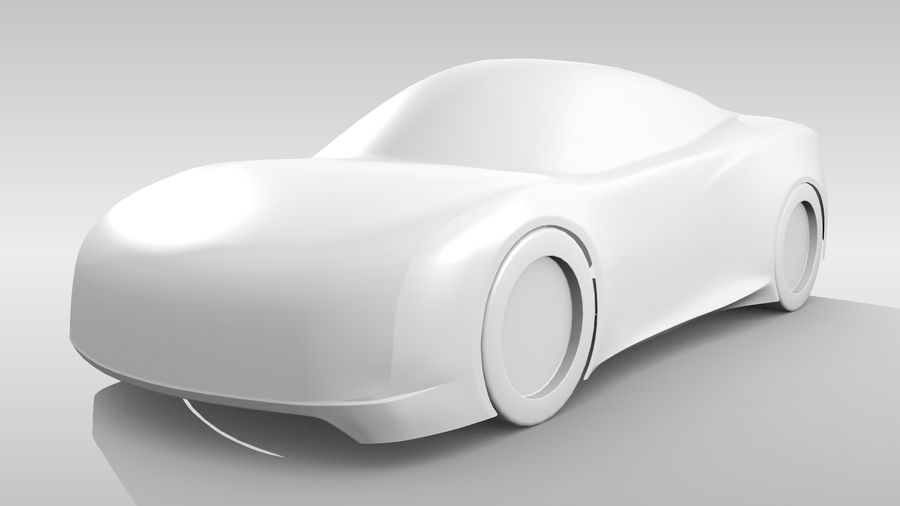 Car Base MR Layout Variant 3 royalty-free 3d model - Preview no. 4
