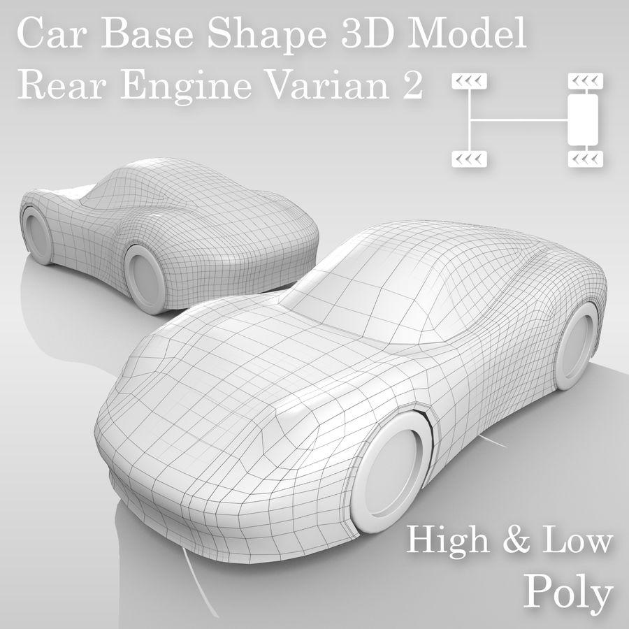 Araba Tabanı RR Düzeni Varyant 2 royalty-free 3d model - Preview no. 1