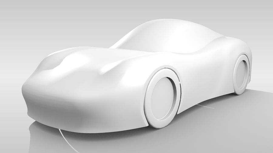 Araba Tabanı RR Düzeni Varyant 2 royalty-free 3d model - Preview no. 4