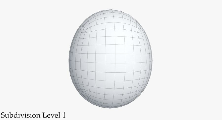 Egg 2 White royalty-free 3d model - Preview no. 9