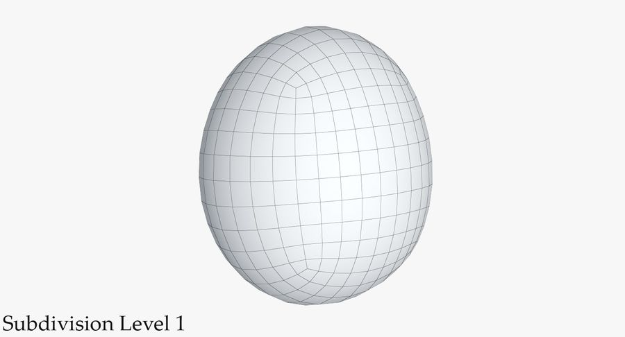 Egg 2 White royalty-free 3d model - Preview no. 17