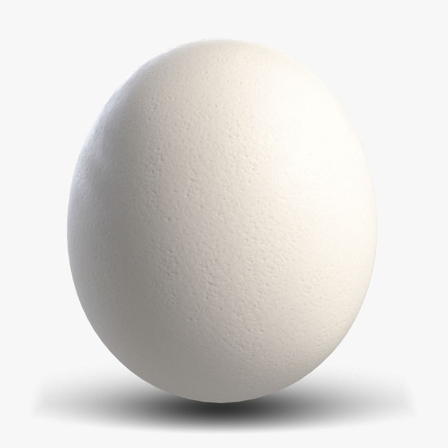 Egg 2 White royalty-free 3d model - Preview no. 1