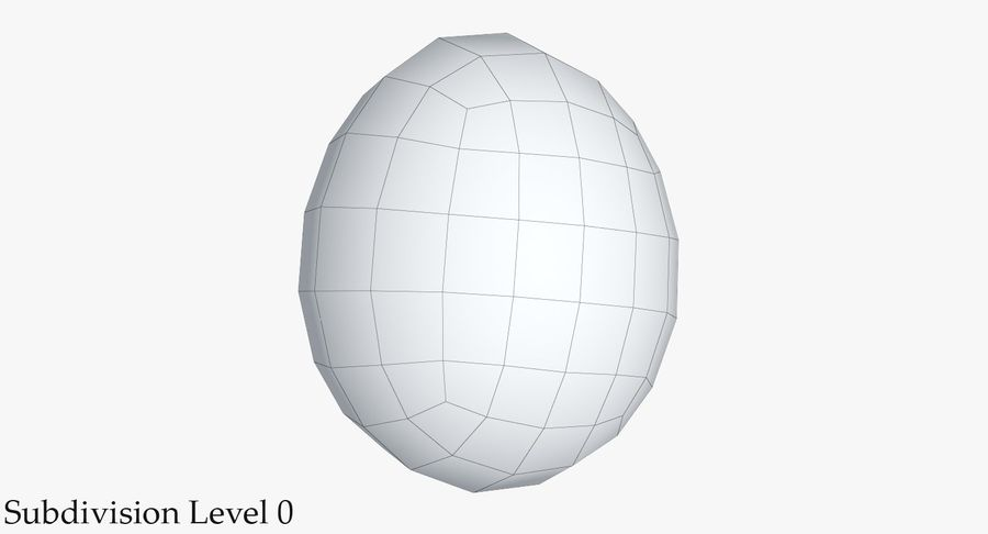 Egg 2 White royalty-free 3d model - Preview no. 10