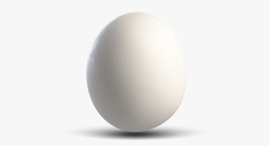 Egg 2 White royalty-free 3d model - Preview no. 7