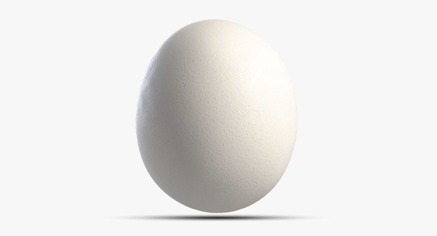 Egg 2 White royalty-free 3d model - Preview no. 4