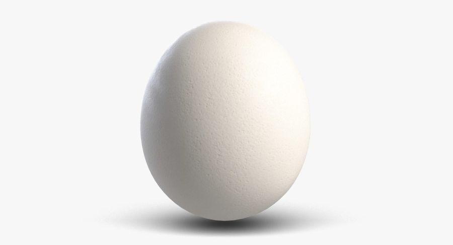 Egg 2 White royalty-free 3d model - Preview no. 2