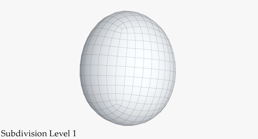 Egg 2 White royalty-free 3d model - Preview no. 11