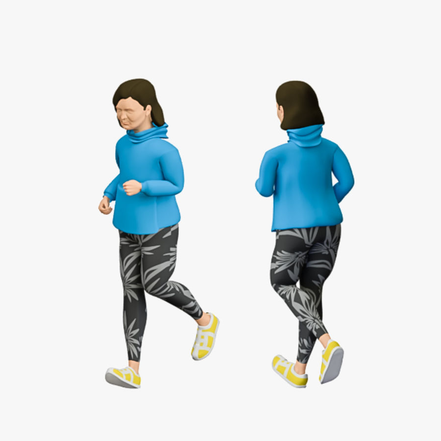Sports People 01(Runner) royalty-free 3d model - Preview no. 11