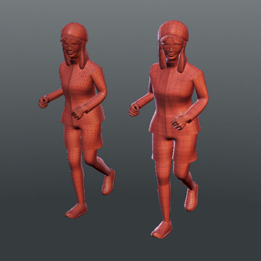 Sports People 01(Runner) royalty-free 3d model - Preview no. 16