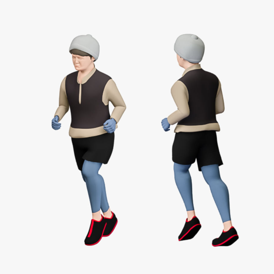 Sports People 01(Runner) royalty-free 3d model - Preview no. 9