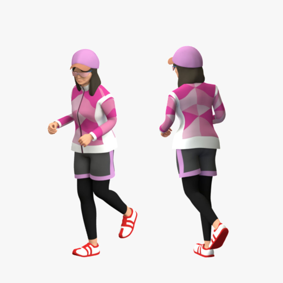 Sports People 01(Runner) royalty-free 3d model - Preview no. 10